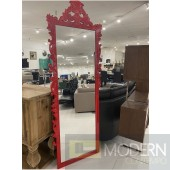 "89"" Bugatti Royale Floor Mirror Red"