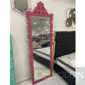 "89"" Bugatti Royale Floor Mirror Pink"