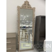 "89"" Bugatti Royale Floor Mirror Light Brown"