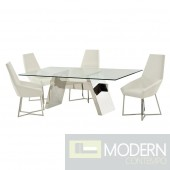 Sellaria High Polished Stainless Steel Dining Table