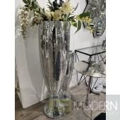 "Glitzy Mirror Mosaic Vase, Medium 8x32"""