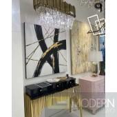 Black and Gold Zen Gold Wall Art
