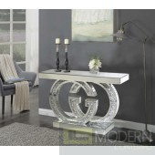 GG mirrored console with Crystals