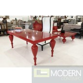 Bugatti Red Lacquer Dining Table