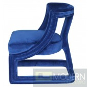 Adriel II Navy Velvet Lounge Chair