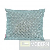 Dolce Lavish Rhinestone Pillow - LARGE BLUE