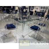 7Pc Specter Acrylic Dining Collection