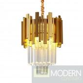 Hypnotic II Modern Gold Small Round Crystal Chandelier