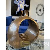 Robusto Open Ring Medium Vase - BRONZE