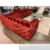 Anjolie Red Velvet Sofa & Loveseat Living room set