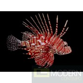 Lion Fish Glass Wall Art - Swarovski crystals