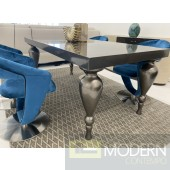 Bugatti Grey Lacquer Dining Table FLOOR MODEL