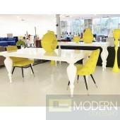 Bugatti White Lacquer Dining Table