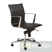 KYLER LOW BACK OFFICE CHAIR BLACK