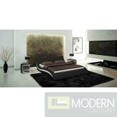 J213B - Contemporary Eco-Leather Bed