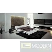 Modrest Apollo - Contemporary White Bonded Leather California King Bed