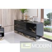 Alessio Modern Black Dresser