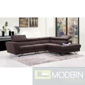 Juliana Leather Sectional Sofa
