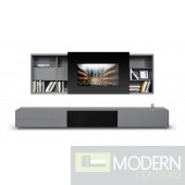 Modrest Smartbase - Modern iPhone or iPad Dock Ready Glass Entertainment Center