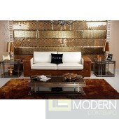 TRAPUN- Modern White Eco-Leather Sofa Set