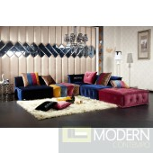 Fleur - Contemporary Fabric Sectional Sofa