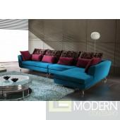 Bravo - Contemporary Fabric Sectional Sofa Set