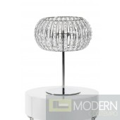 Modrest KD2003 Stainless Steel and Crystal Table Lamp