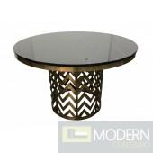 Borno Glam Black Marble Dining Table
