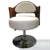 Leather Adjustable Leisure Chair White