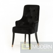 A&X Lucca Modern Black Fabric Dining Chair