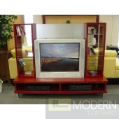 Modern Italian TV  Entertainment Unit in Bordeaux Lacquer -MCVATV38