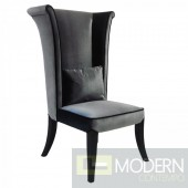 Duchess Rich Velvet Tall Back Chair Dark Grey