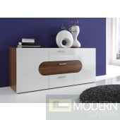 Modern Buffet SideBoard Cherry-Black or white Color. Unit Made in Italy.