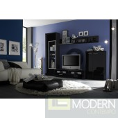Modern White TV Wall Unit made in Italy.