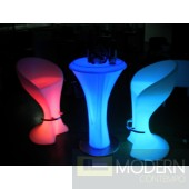 Illuminated lighted Rechargeable LED Bar Stool with Color Change Remote
