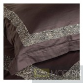 Auriel Dark Grey Duvet Cover Set with crystals KING