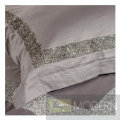 Auriel Light Grey Duvet Cover Set with crystals KING