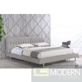 Laguna Grey leatherette platform bed