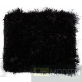 Modrest Mantova Modern Black Small Area Rug