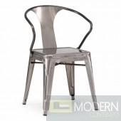 Zuo Modern Helix Dining Chair Gun Metal Set of 2 LOCAL DMV DEALS
