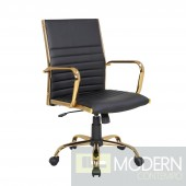 Caspian Black & gold Office chair