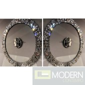 Gianna Mirrored Wall Clock w/ Faux Diamond Crystals