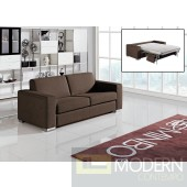 Divani Casa Mineral Modern Brown Fabric Sofa Bed