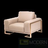 Mia Bella Gianna Leather Standard Chair in Peach RoseGold