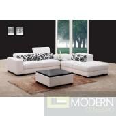 Miami - White Fabric Sectional sofa set