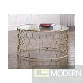 Finn Gold Coffee table & glass