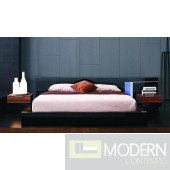 Modrest Alaska Night Modern Black Lacquer Bed