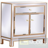"Rome 29"" Mirrored Cabinet In Antique Gold"