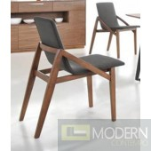 Jett Modern Espresso Fabric Dining Chair