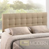 Lily King Fabric Headboard Beige